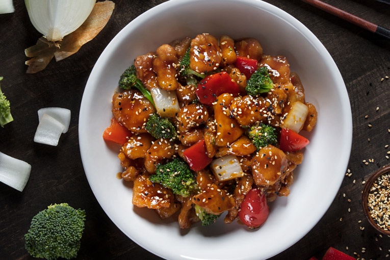 sesame chicken bowl  pf chang's